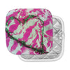 "Anne LaBrie ""Pink Tiger Love"" Pink Green Pot Holder"