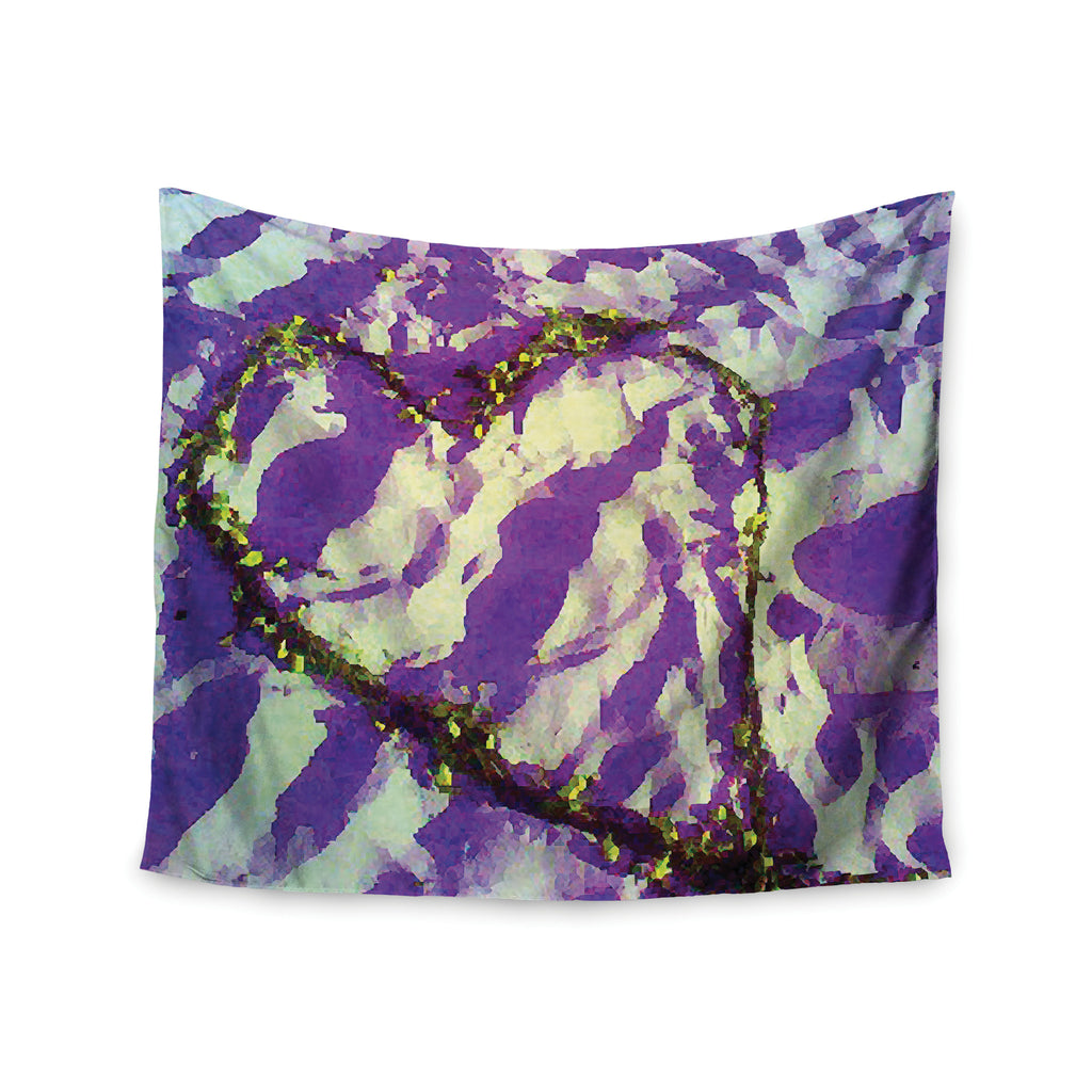 "Anne LaBrie ""Purple Tiger Love"" Purple Yellow Wall Tapestry - KESS InHouse  - 1"