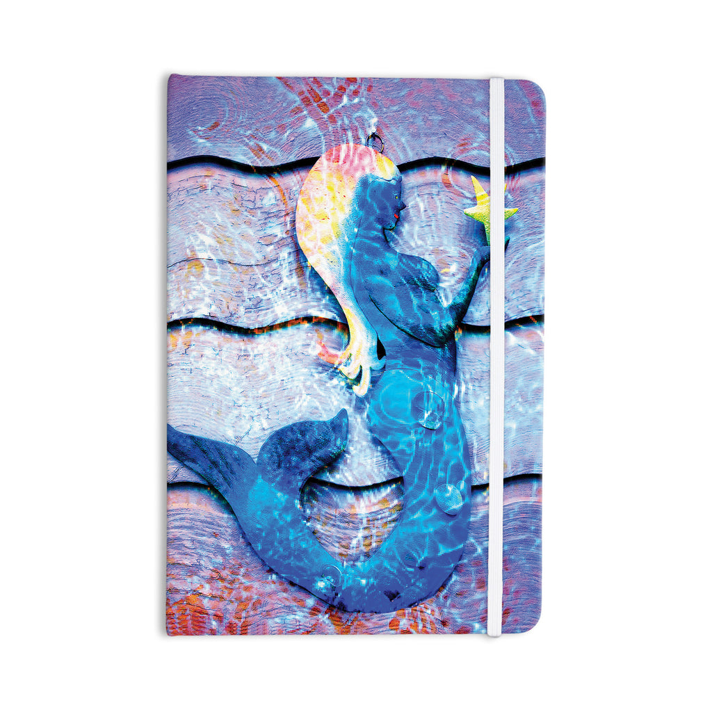 "Anne LaBrie ""Mermaid Starlight"" Aqua Blue Everything Notebook - KESS InHouse  - 1"