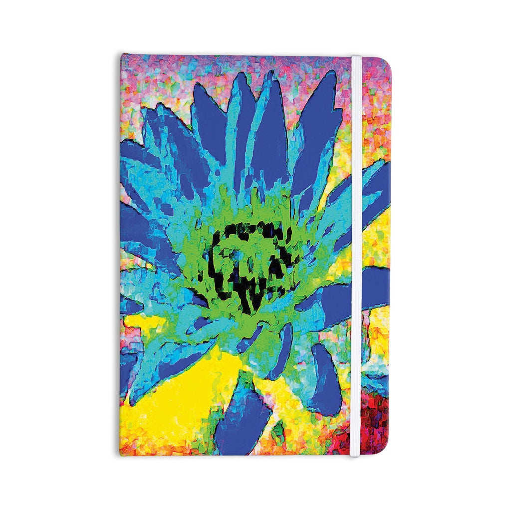 "Anne LaBrie ""Wild Lotus"" Blue Flower Everything Notebook - KESS InHouse  - 1"