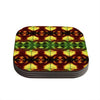"Anne LaBrie ""Tribal Marsala"" Red Yellow Coasters (Set of 4)"