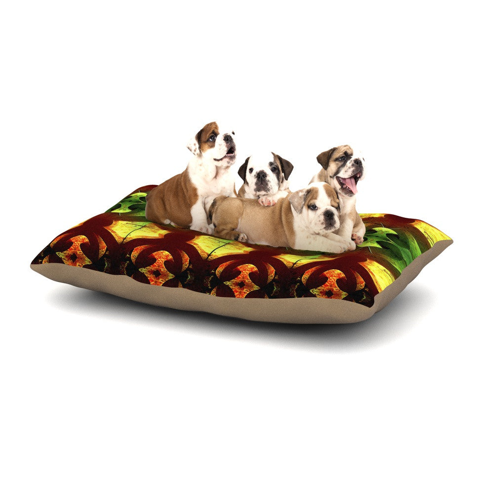"Anne LaBrie ""Tribal Marsala"" Red Yellow Dog Bed - KESS InHouse  - 1"