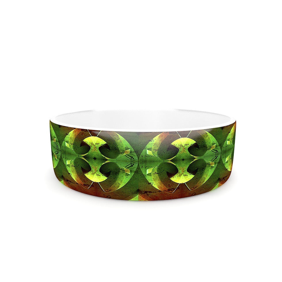 "Anne LaBrie ""Tribal Marsala"" Red Yellow Pet Bowl - KESS InHouse"