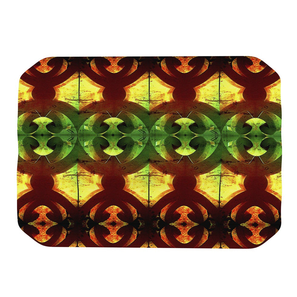 "Anne LaBrie ""Tribal Marsala"" Red Yellow Place Mat - KESS InHouse"