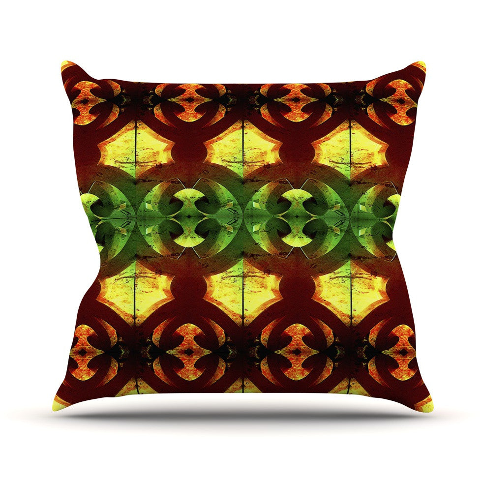 "Anne LaBrie ""Tribal Marsala"" Red Yellow Throw Pillow - KESS InHouse  - 1"