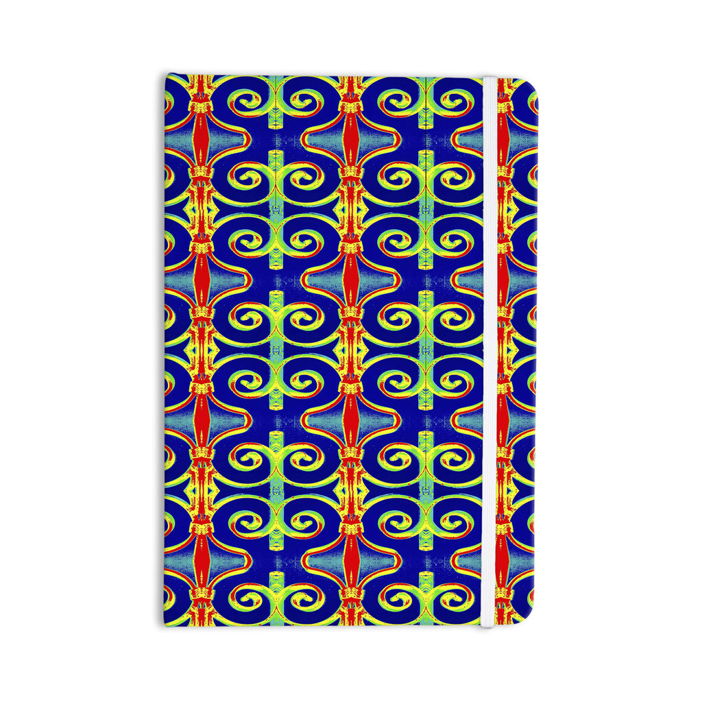 "Anne LaBrie ""Swirl Away"" Blue Red Everything Notebook - KESS InHouse  - 1"