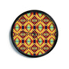 "Anne LaBrie ""Diamond Light"" Yellow Red Modern Wall Clock"