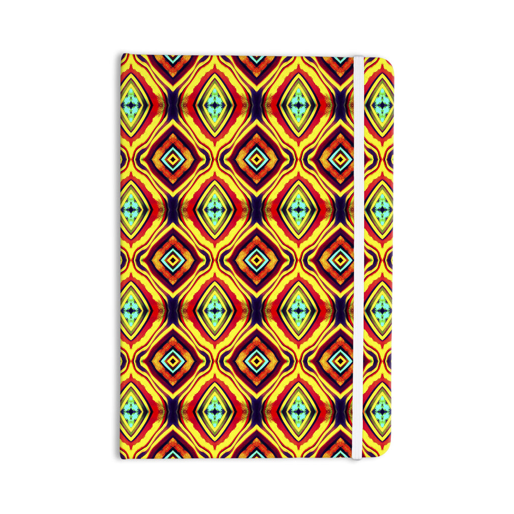 "Anne LaBrie ""Diamond Light"" Yellow Red Everything Notebook - KESS InHouse  - 1"