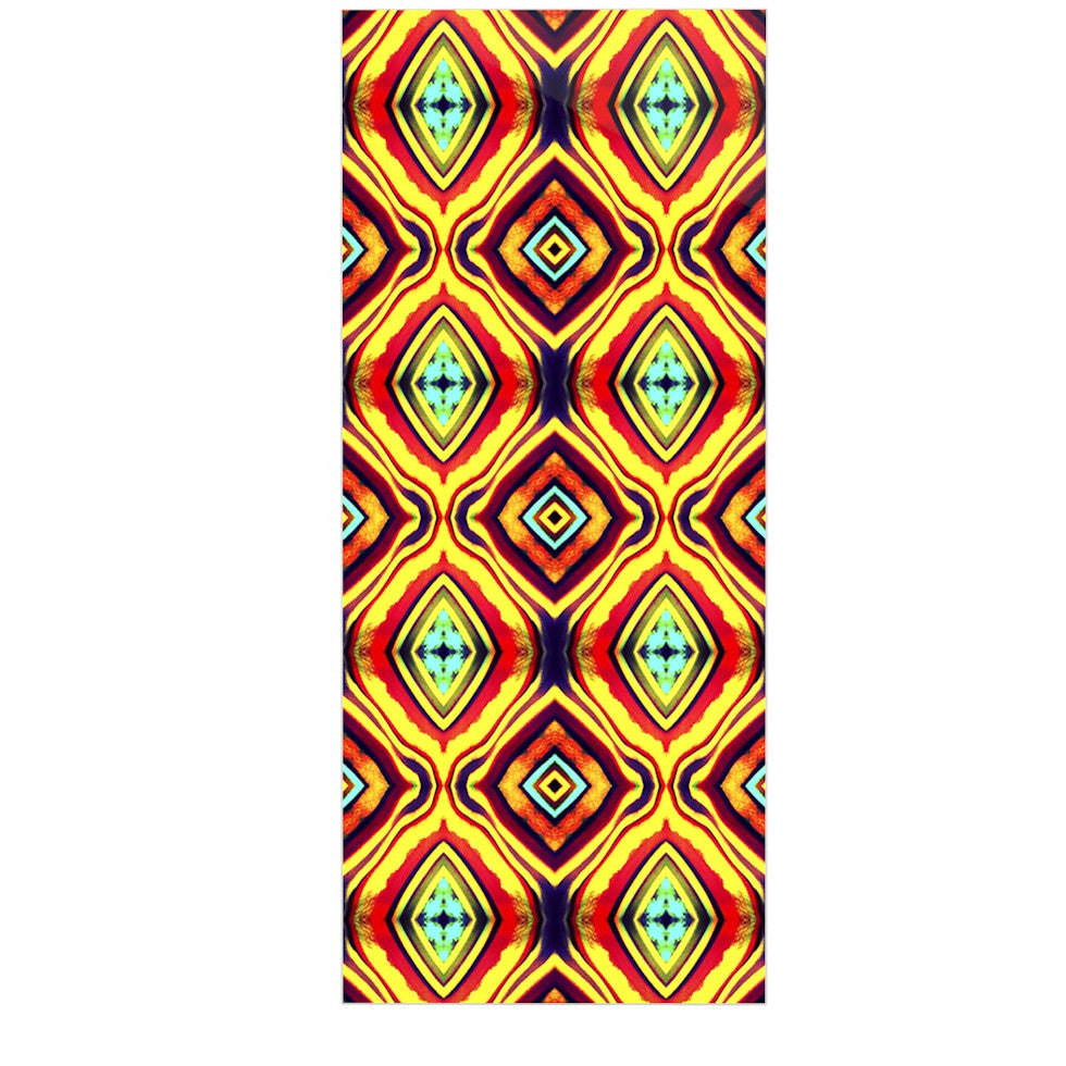 "Anne LaBrie ""Diamond Light"" Yellow Red Luxe Rectangle Panel - KESS InHouse  - 1"