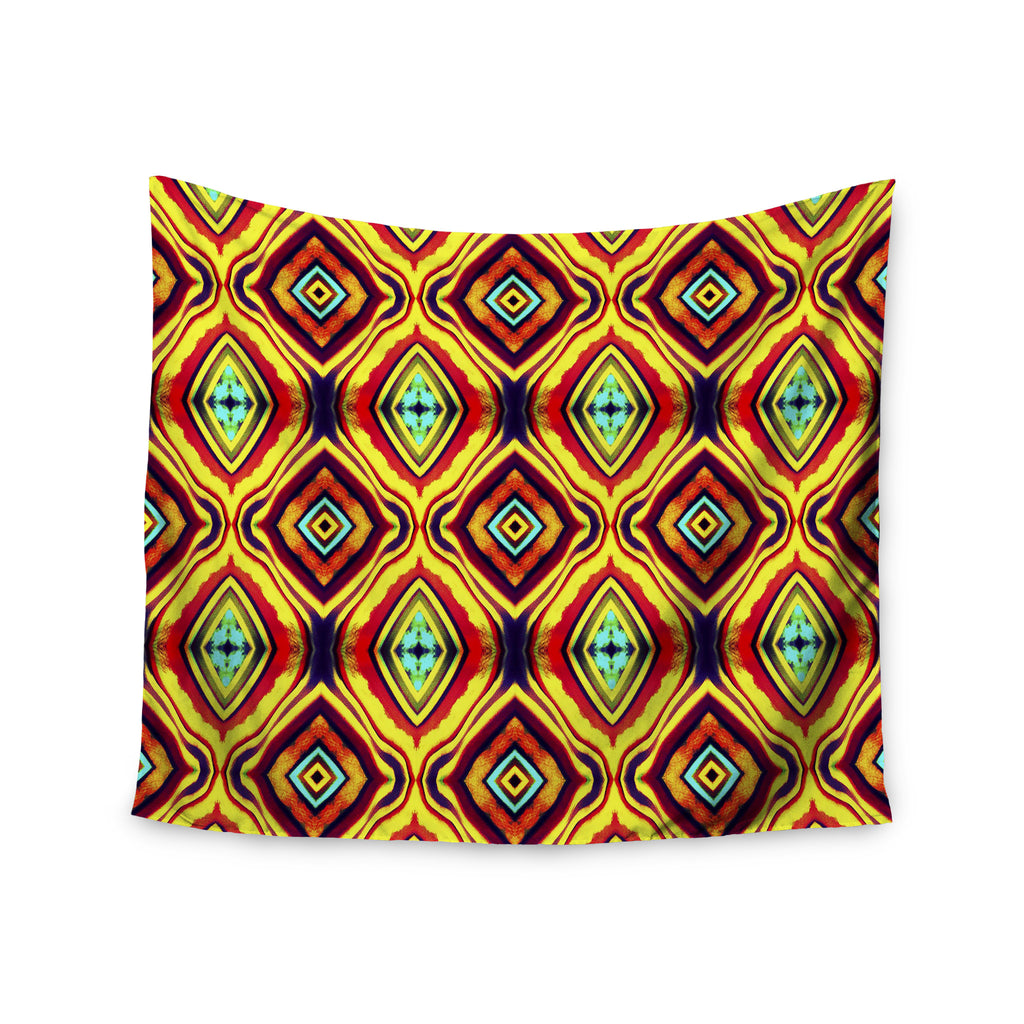"Anne LaBrie ""Diamond Light"" Yellow Red Wall Tapestry - KESS InHouse  - 1"