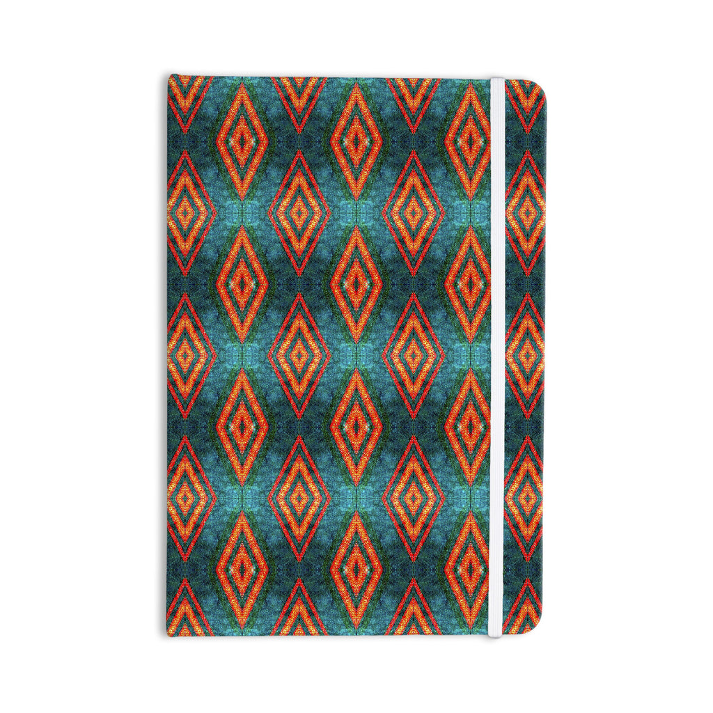 "Anne LaBrie ""Diamond Sea"" Blue Orange Everything Notebook - KESS InHouse  - 1"