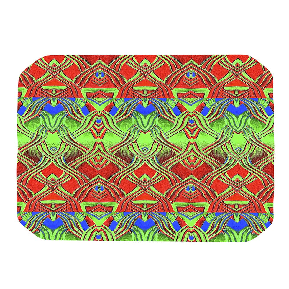 "Anne LaBrie ""Mystic Flow"" Green Red Place Mat - KESS InHouse"