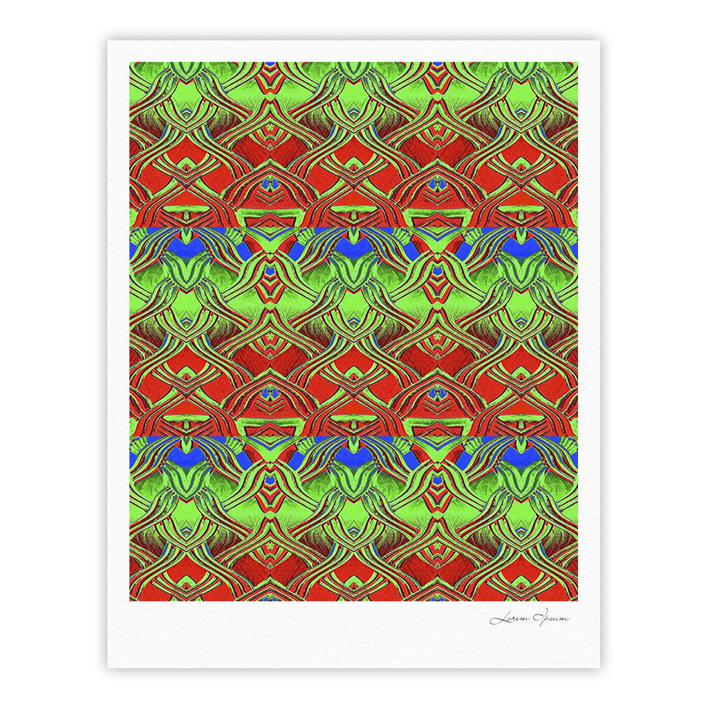 "Anne LaBrie ""Mystic Flow"" Green Red Fine Art Gallery Print - KESS InHouse"