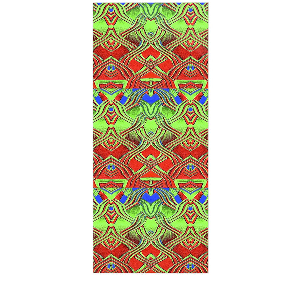 "Anne LaBrie ""Mystic Flow"" Green Red Luxe Rectangle Panel - KESS InHouse  - 1"