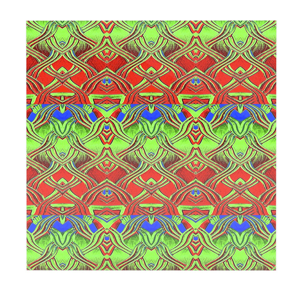 "Anne LaBrie ""Mystic Flow"" Green Red Luxe Square Panel - KESS InHouse  - 1"