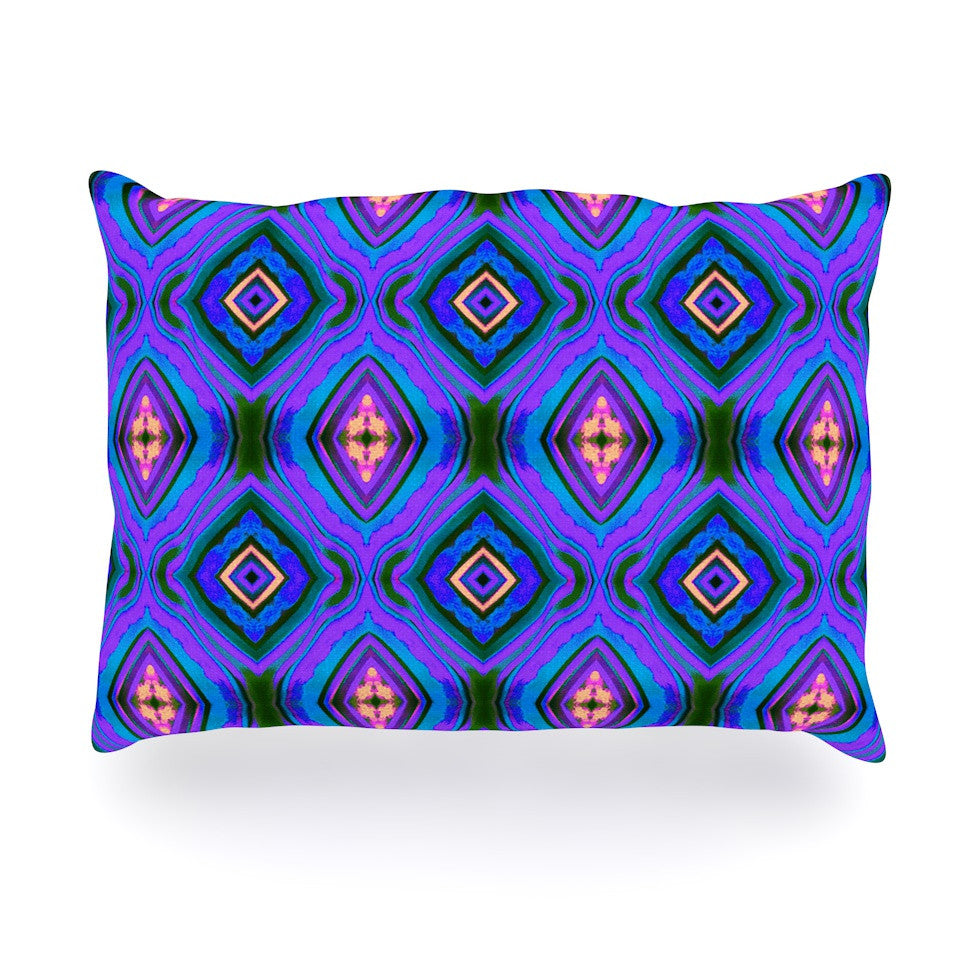 "Anne LaBrie ""Dark Diamond"" Purple Blue Oblong Pillow - KESS InHouse"