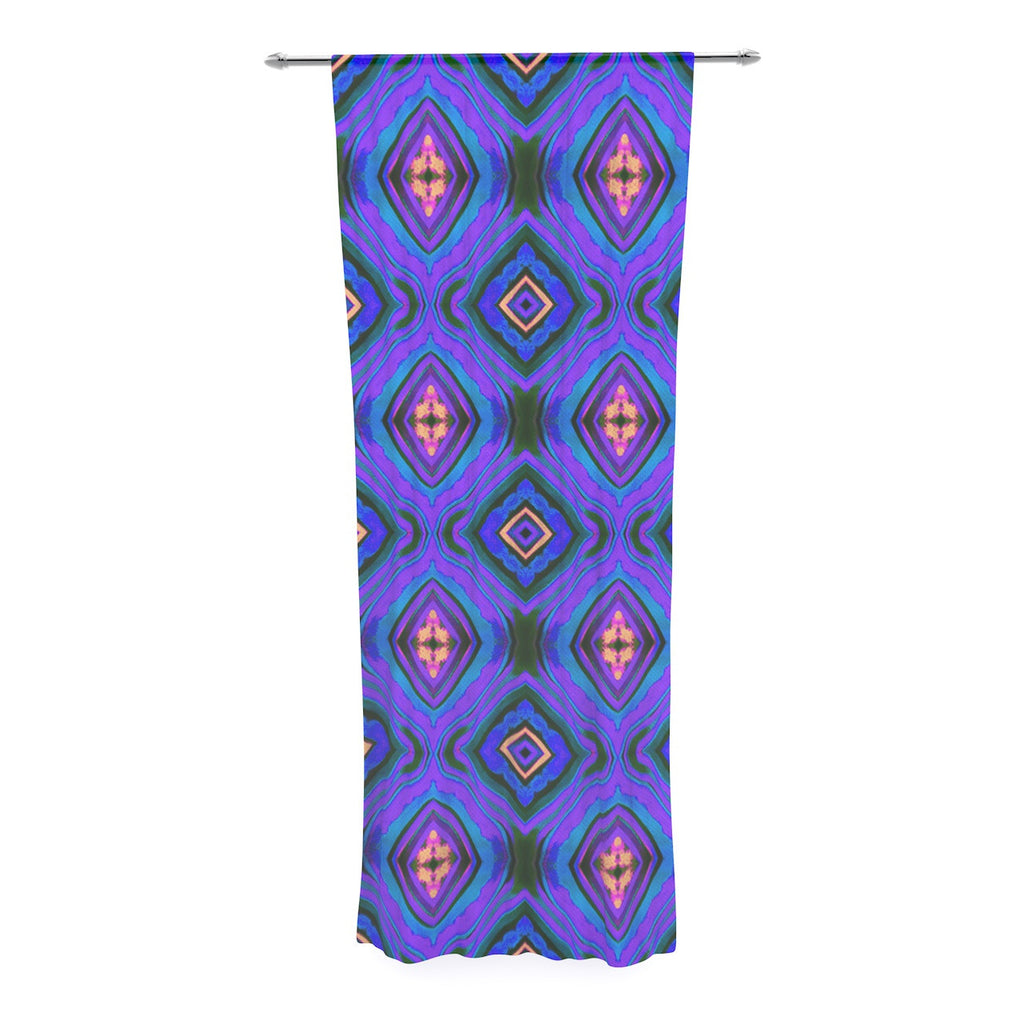 "Anne LaBrie ""Dark Diamond"" Purple Blue Decorative Sheer Curtain - KESS InHouse  - 1"