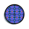 "Anne LaBrie ""Dark Diamond"" Purple Blue Modern Wall Clock"