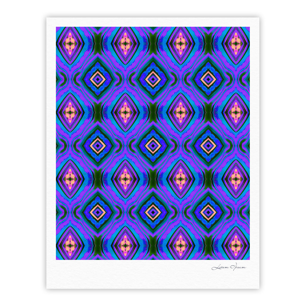 "Anne LaBrie ""Dark Diamond"" Purple Blue Fine Art Gallery Print - KESS InHouse"