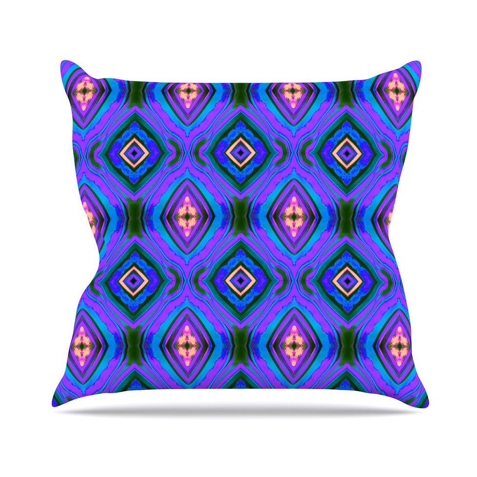 "Anne LaBrie ""Dark Diamond"" Purple Blue Throw Pillow - KESS InHouse  - 1"
