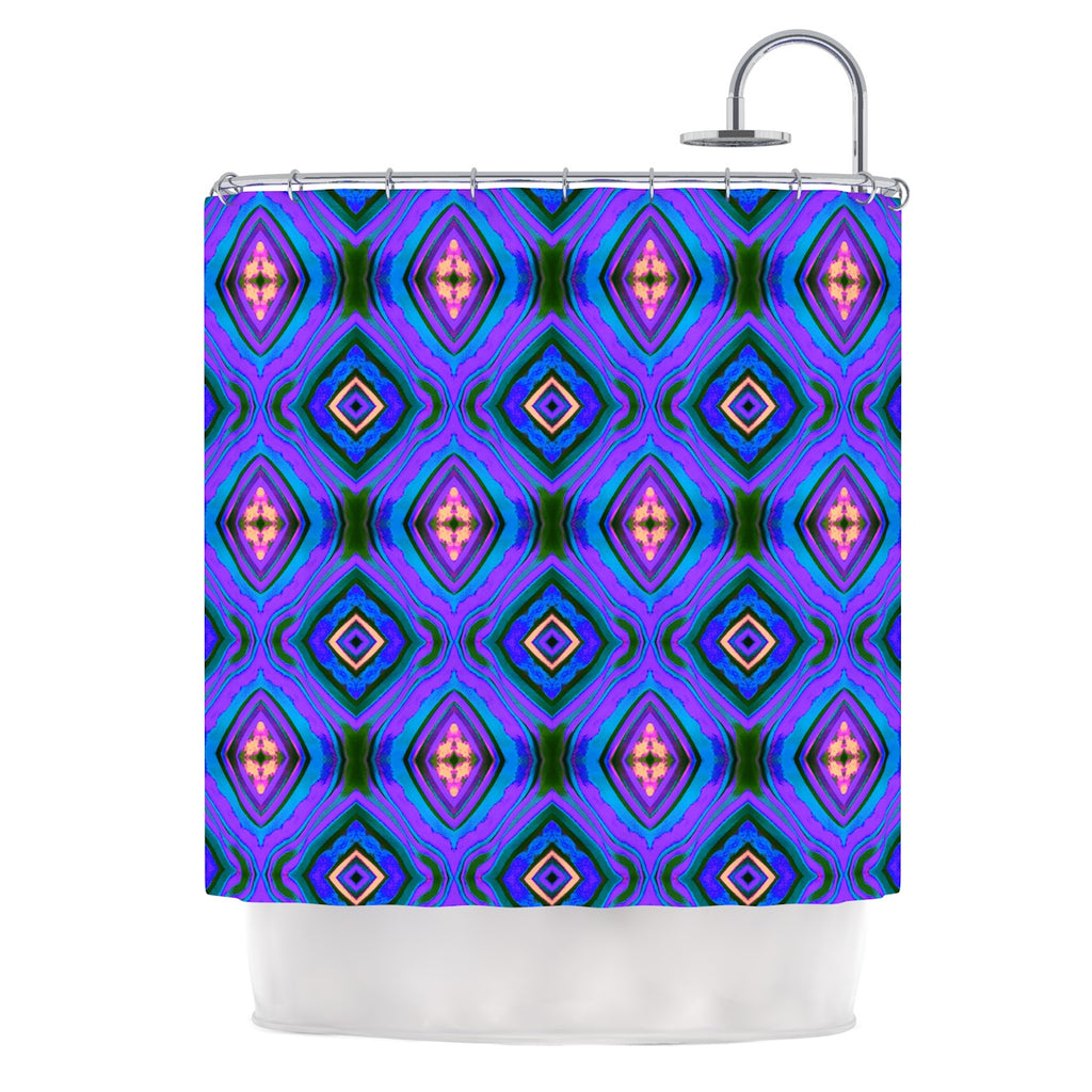 "Anne LaBrie ""Dark Diamond"" Purple Blue Shower Curtain - Outlet Item"