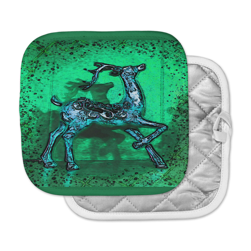 "Anne LaBrie ""Dance On"" Green Blue Pot Holder"