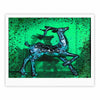 "Anne LaBrie ""Dance On"" Green Blue Fine Art Gallery Print - KESS InHouse"