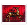 "Anne LaBrie ""Dash On"" Red Gold Fine Art Gallery Print - KESS InHouse"
