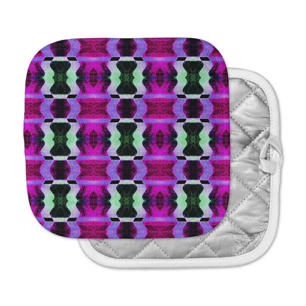 "Anne LaBrie ""High Vibrations"" Magenta Purple Pot Holder"