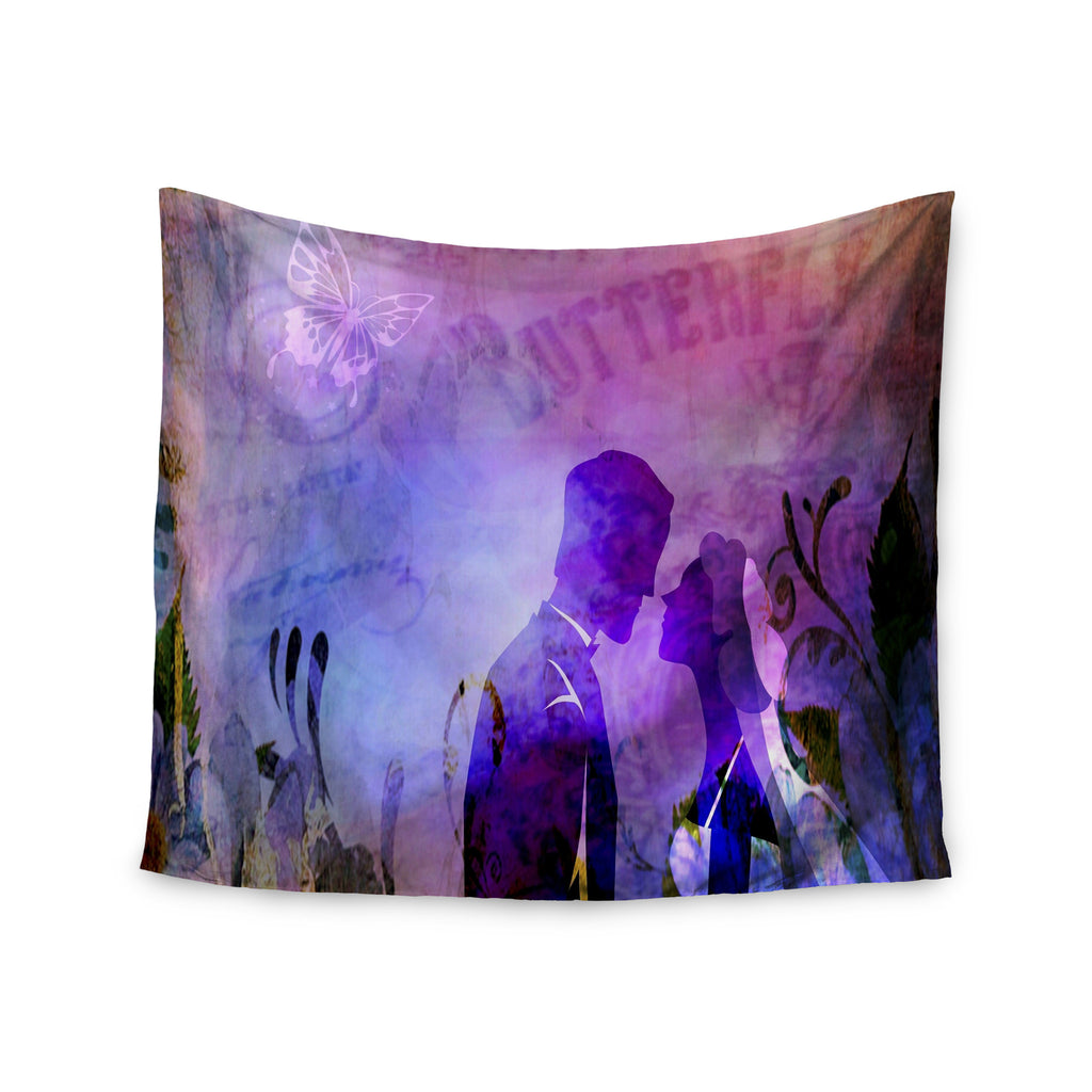 "alyZen Moonshadow ""Couple In Love"" Purple Pink Wall Tapestry - KESS InHouse  - 1"