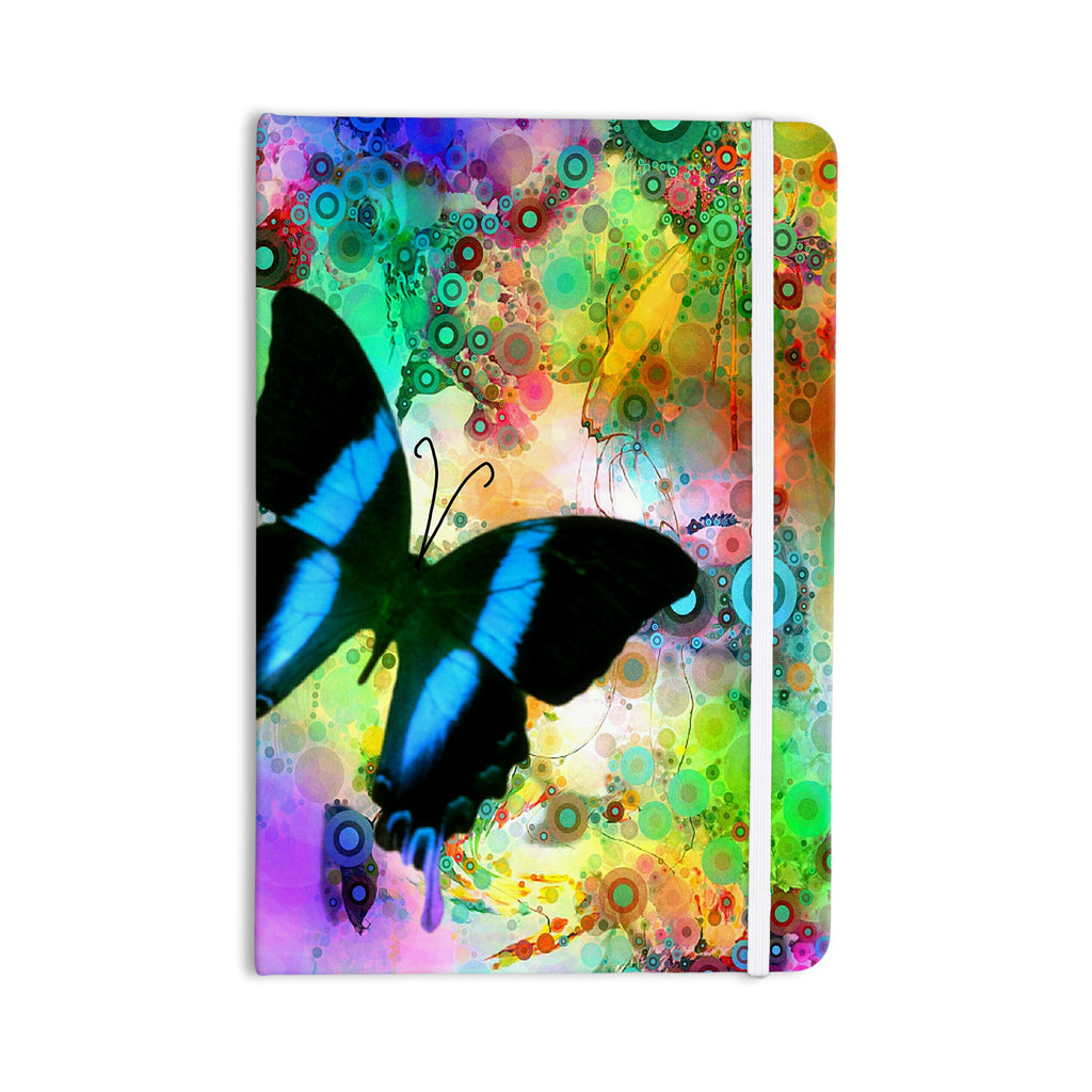 "alyZen Moonshadow ""Colorful Blue"" Multicolor Butterfly Everything Notebook - KESS InHouse  - 1"
