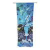 "alyZen Moonshadow ""Birds In Love Blue"" Navy Purple Decorative Sheer Curtains - KESS InHouse"