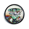 "AlyZen Moonshadow ""Mad Hatters T-Party III"" Abstract Modern Wall Clock"