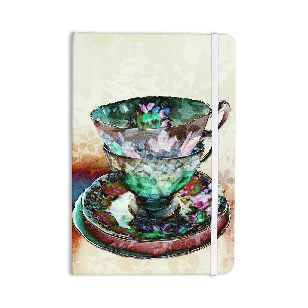 "alyZen Moonshadow ""Mad Hatters T-Party III"" Abstract Everything Notebook - KESS InHouse  - 1"