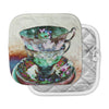 "alyZen Moonshadow ""Mad Hatters T-Party III"" Abstract Pot Holder"