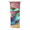 "alyZen Moonshadow ""Mad Hatters T-Party VI"" Teal Pink Decorative Sheer Curtains - KESS InHouse"