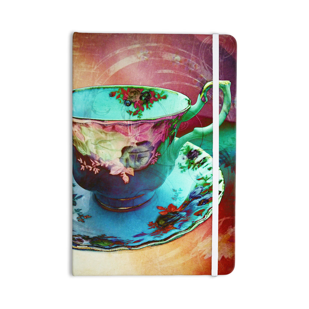"alyZen Moonshadow ""Mad Hatters T-Party VI"" Teal Pink Everything Notebook - KESS InHouse  - 1"