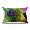 "alyZen Moonshadow ""SILHOUETTE (DARK)"" Green Purple Pillow Sham - KESS InHouse  - 1"