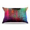 "alyZen Moonshadow ""A GRAND DELUGE (RED)"" Multicolor Abstract Pillow Sham - KESS InHouse  - 1"