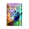 "AlyZen Moonshadow ""NOT QUITE BIRDS OF A FEATHER"" Green Multicolor Everything Notebook - KESS InHouse  - 1"