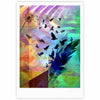 "AlyZen Moonshadow ""NOT QUITE BIRDS OF A FEATHER"" Green Multicolor Fine Art Gallery Print - KESS InHouse"