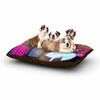 "AlyZen Moonshadow ""PINK BALLET"" Multicolor Geometric Dog Bed - KESS InHouse  - 1"