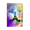 "AlyZen Moonshadow ""EIFFEL TOWER (PURPLE)"" Yellow Travel Everything Notebook - KESS InHouse  - 1"