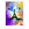 "AlyZen Moonshadow ""EIFFEL TOWER (PURPLE)"" Yellow Travel Fine Art Gallery Print - KESS InHouse"