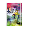 "AlyZen Moonshadow ""BIKE TO THE MOON"" Pink Green Everything Notebook - KESS InHouse  - 1"