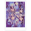 "AlyZen Moonshadow ""WILD THINGS"" Purple Barbie Fine Art Gallery Print - KESS InHouse"