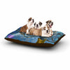 "AlyZen Moonshadow ""WONKY"" Blue White Dog Bed - KESS InHouse  - 1"