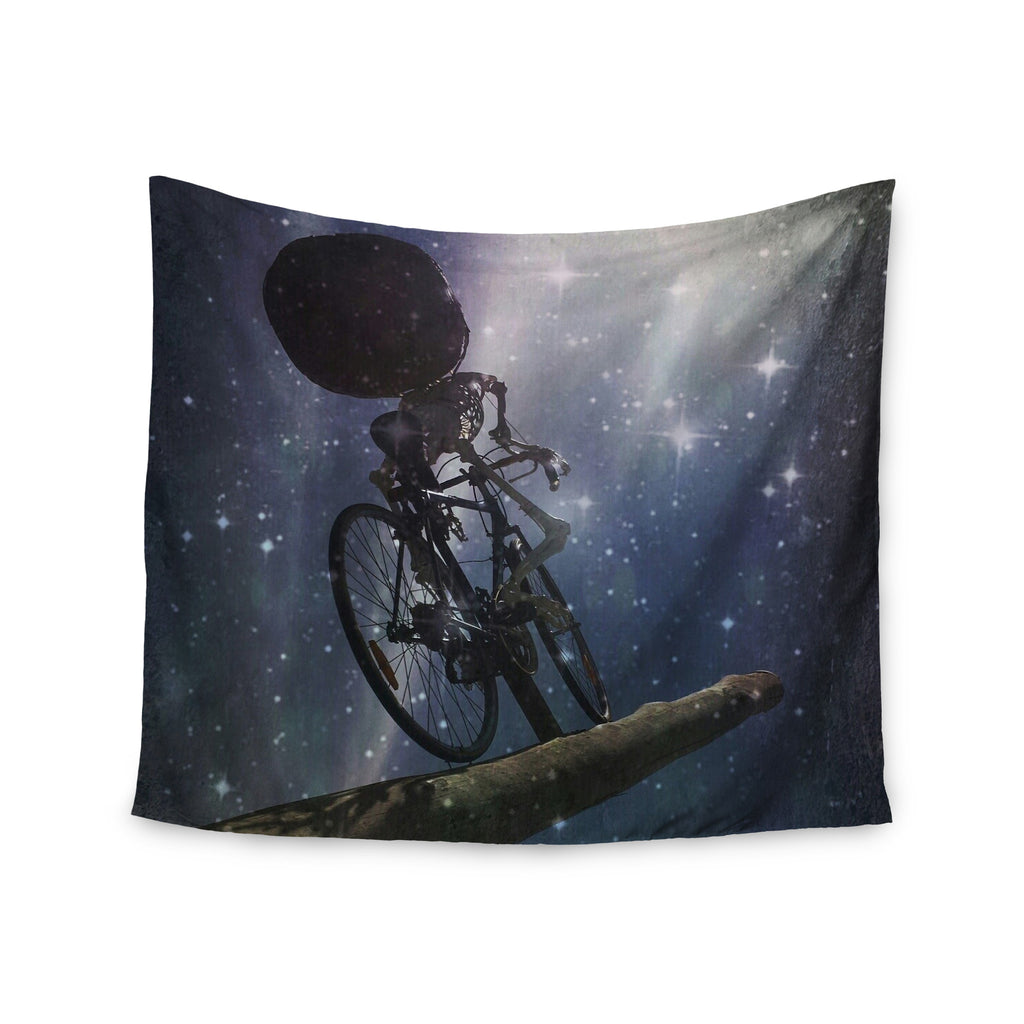 "alyZen Moonshadow ""NO REST FOR THE WICKED"" Space Blue Wall Tapestry - KESS InHouse  - 1"