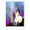 "alyZen Moonshadow ""Blue Ballet"" Multicolor Purple Fine Art Gallery Print - KESS InHouse"
