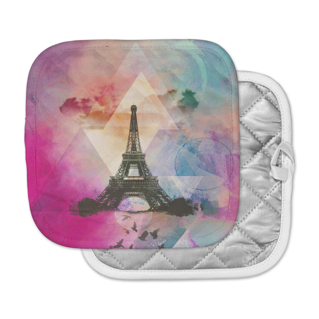 "alyZen Moonshadow ""EIFFEL TOWER (DEEP PINK)"" Multicolor  Pot Holder"